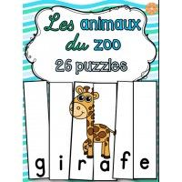 Animaux du zoo - 26 casses-tête Free Preschool, Preschool Printables, Web Animal, Le Zoo, Jungle Nursery, How To Speak French, Nursery Wall Decals, Zoo Animals, Safari