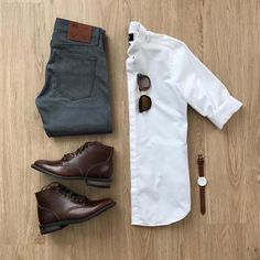 Best casual mens fashion which is stunning. Stylish Mens Outfits, Casual Outfits, Men Casual, Dress Casual, Casual Shoes, Casual Attire, Outfit Hombre Casual, White Sneakers Outfit, Nike Sneakers