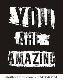 vector typography you are amazing - Buy this stock vector and explore similar vectors at Adobe Stock Shirt Print Design, Shirt Designs, Design Vector, Text Design, Light Up Hoodie, Quote Tshirts, Postive Quotes, Mindset Quotes, Pictures To Paint