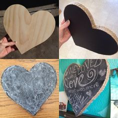 valentines day gifts..  diy heart chalkboard