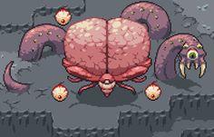 Brain Of Cthulhu, Cthulhu Art, Arte 8 Bits, Cool Pixel Art, Alien Design, Pixel Art Games, Anime Drawings Sketches, Anime Poses, Game Design