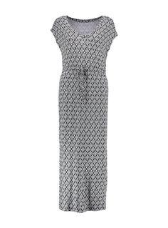 Mix Print Blouson Maxi Dress