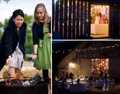 fire pits, barn reception, barn weddings, rustic weddings, barns, decorations, marshmallows, outdoor weddings, outdoor receptions