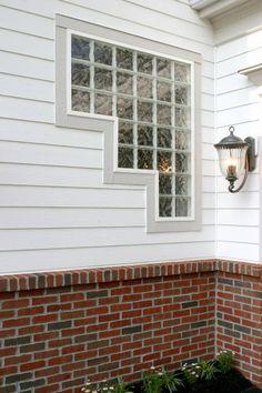 odd shaped glass block window