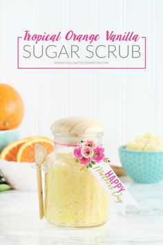 Tropical Orange Vanilla Sugar Scrub