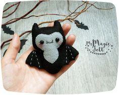 Cute Halloween ornament felt Bat decor Halloween by MyMagicFelt