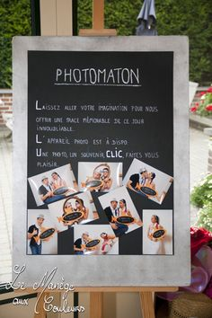 Fun way to get the guests to the photo booth-def doing this.