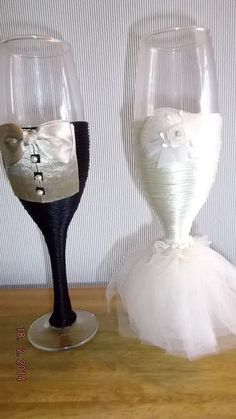 copas decoradas para novios. | BODAS | Pinterest
