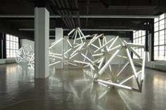 Björn Dahlem || The Milky Way || 2007 || Wood, neon lamp, bottle of milk || Dimensions variable