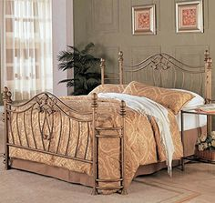 Transitional Iron Bed California King 92 in L x 72 in W x 525 in H >>> More info could be found at the image url.
