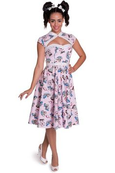 Hell Bunny 50s Vintage Retro Pin up Rockabilly Swing Madeline Dress (L)