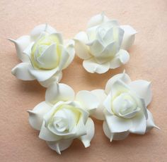 ******THIS MIGHT BE THE ONE WE USE, ITS CHEAP AND FREE SHIPPING-Free Shipping--100pcs 7cm Ivory DIY Accessries Handmade EVA Foam Rose Flower Heads For Wedding Decoration Flower Ball Making