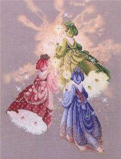 Lavender and Lace_Firefly Fairies - 1/7 Solo Patrones Punto Cruz | Aprender manualidades es facilisimo.com