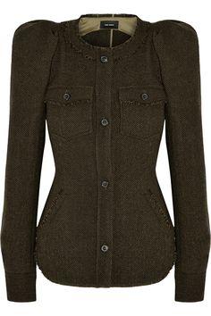 Isabel Marant|Florent herringbone wool-tweed jacket|NET-A-PORTER.COM