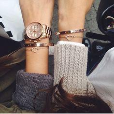 Montre et bracelet coeur