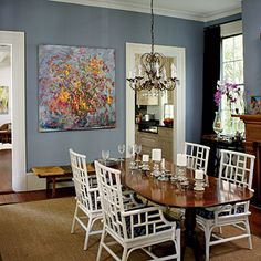 Shade of blue for family room