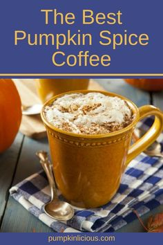 Find out what is the best pumpkin spice coffee, which brings blissful blends of pumpkin, nutmeg, cinnamon, and othert spices. Pumpkin Drinks, Pumpkin Dessert, Pumpkin Recipes, Pumpkin Spice Coffee, Spiced Coffee, Pumpkin Cookies, Pumpkin Bread, Best Comfort Food, Comfort Foods