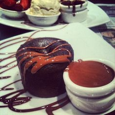 Max Brenner chocolate soufflé. NYC. Max brenner is on my bucket list! I really want to visit!!