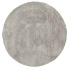 Soft round rug 140cm diameter in pale grey