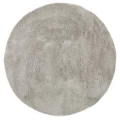 Soft round rug 140cm diameter in pale grey