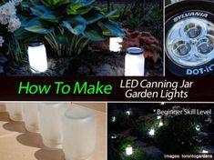 How To Make LED Canning Jar Garden Lights: Beginner Level