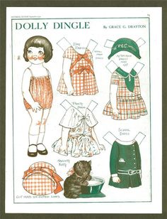 Dolly Dingle Paper Doll Sept 1930 Pictoral Review Drayton | eBay