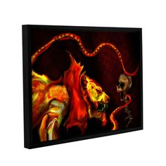 Shadow Of The Beast by Michael L Stewart Gallery-Wrapped Floater-Framed Canvas