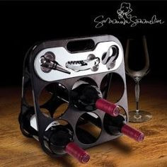 Carousel Wine Bottle Holder - Best_Buys_4_You