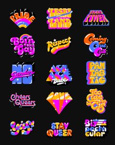 Snapchat Pride on Behance Graphic Design Posters, Graphic Design Typography, Graphic Design Illustration, Logo Design, Typography Inspiration, Graphic Design Inspiration, Typographie Fonts, Grafiti, Typography Letters