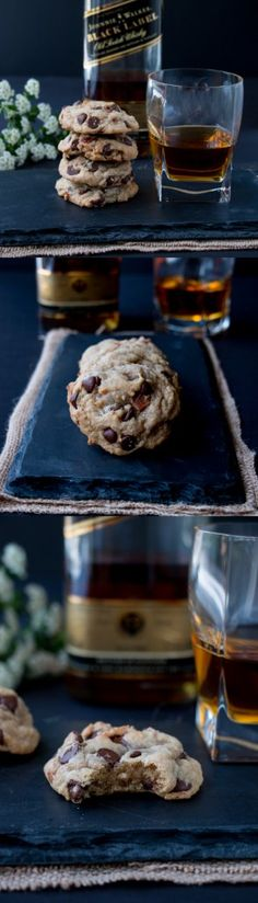 The addition of bacon and bourbon takes your everyday chocolate chip cookies…
