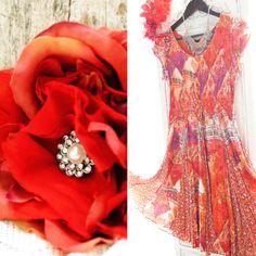 Vintage cotton Indian print dresses ~ bohemian chic clothing ~ festies clothes