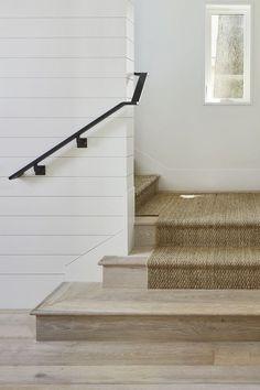 white oak wood again!  and seagrass stair runner again!