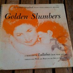 Golden Slumbers A Selection of Lullabies From Near and Far Vinyl Record LP 1966 Caedmon Soundbook Words and Music Folk by vintagebaron on Etsy