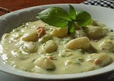 Gnocchi, Cheeseburger Chowder, Food And Drink, Veggies, Low Carb, Vegetarian, Yummy Food, Pasta, Healthy Recipes