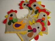 Retro Easter Danish textile egg cosies - 1970s.  #retro #Danish #Easter #textile #1970 #paaske #tekstil #aeggevarmere