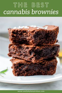 Easy, simple, and delicious Cannabis Brownies made using cannabis-infused coconut oil or cannabutter. No fancy ingredients & ready in just 25 minutes. Weed Butter, Brownies Coconut Oil, Baking Recipes, Dessert Recipes, Desserts, Weed Recipes, Marijuana Recipes, Cannabis Edibles, Kitchen