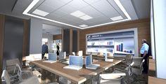Projekt wnętrz, biuro, sala konferencyjna, Warszawa
