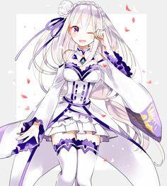 Emilia is so cute! Anime Girl Cute, Anime Girls, Re Zero, Fan Art, Anime Artwork, Pretty And Cute, Manga Girl, Anime Style, Japanese Art