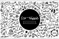 Eco Hippie HandSketched Vector Pack @creativework247