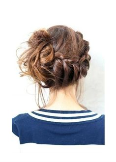My Soul is the Sky: Messy Braid and Bun