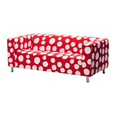 ikea klippan loveseat (cover is Dottevik red) - i love these for playrooms, and this new colorway is fab