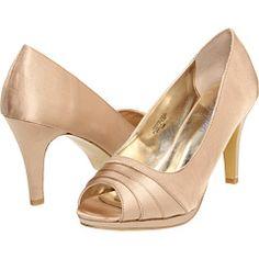 Bouquest Carissa shoe in gold/champagne satin