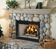 Superior WRT Builder Series Radiant Wood Burning Fireplace - Smooth Face - - The Outdoor Appliance Store Cottage Fireplace, Simple Fireplace, Fireplace Hearth, Home Fireplace, Fireplace Design, Stone Mantel, Fireplace Cover, Limestone Fireplace, Victorian Fireplace