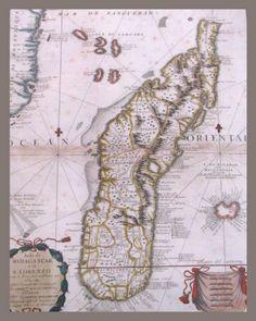 Ancient Map Madagascar