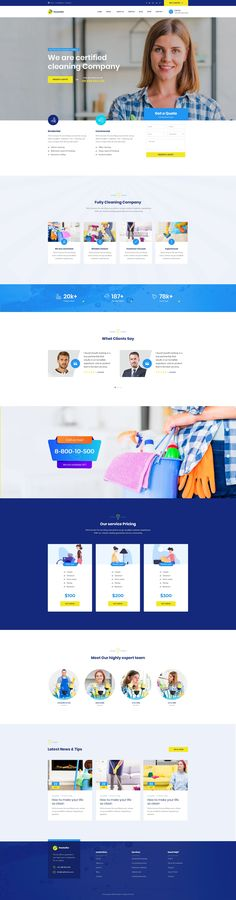 Buy Neateller - Cleaning Services PSD Template by ir-tech on ThemeForest. Neateller – Cleaning Service PSD Template is best suitable for cleaning, cleaning business, leaning Service, cleaner. Cleaning Companies, Cleaning Business, Cleaning Service, Room Darkening Blinds, Ikea Kitchen Remodel, Page Layout, Layouts, Good House, Layout