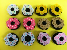 Read, Sarah, Read!: 12 Little Donuts    12 little donuts in the donut shop  Yummy and warm with sprinkles on top  ____ came along with a quarter to pay  She took one home and ate it right away...Yum! Yum!