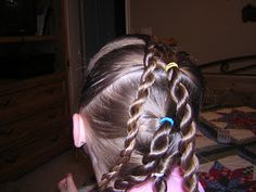 Flower Girl Hairstyle, Twisted Up-Do | Hairstyles For Girls - Princess…