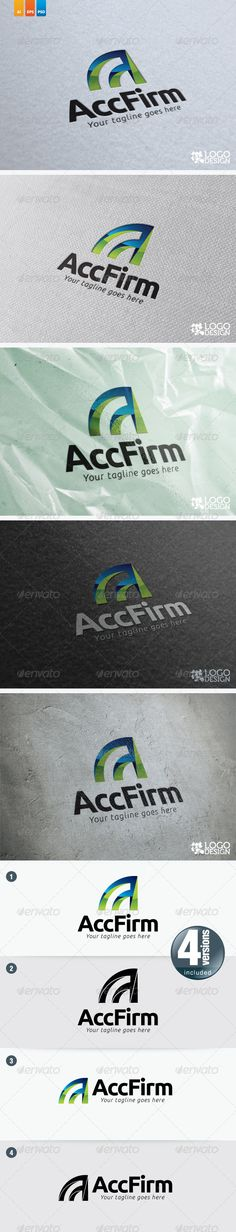 Account Firm by kitcreativelogo This logo perfectly use for accounting firm or any account related bussinesses as well. Font: Ubuntu Bold, Ubuntu Italic (http: