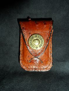 Made for a Zippo Lighter. Leather lighter Case that slides onto your belt, made in Genuine Ostrich