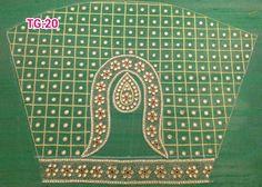 design Simple Blouse Designs, Sari Blouse Designs, Bridal Blouse Designs, Salwar Neck Patterns, Blouse Patterns, Sari Design, Peacock Design, Aari Embroidery, Embroidery Designs